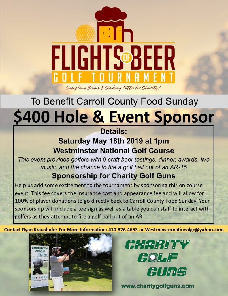 Flights of Beer Charity Golf Guns Sponsor
