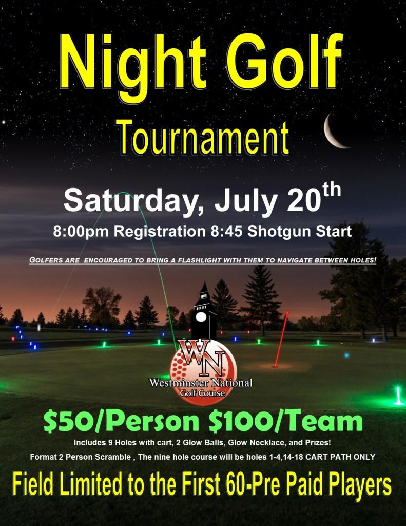 Night Golf Flyer July 2019